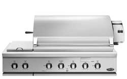 48 Inch Grill with Integrated Sideburner for Built-In or On Cart Applications