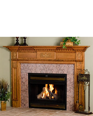 Jeffersonian Fireplace Surround