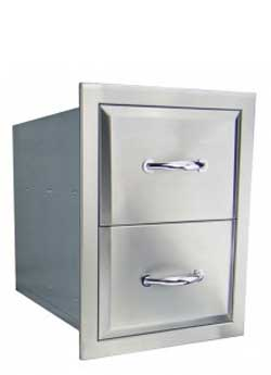 RCS Agape Series Stainless 15 Inch Double Drawer