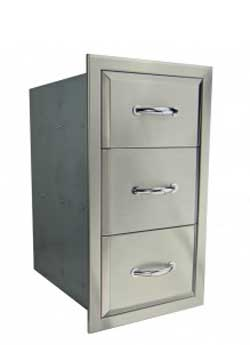 RCS Agape Series Stainless Triple Drawer