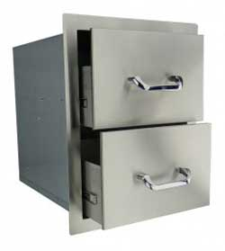 RCS Stainless 15 Inch Double Drawer