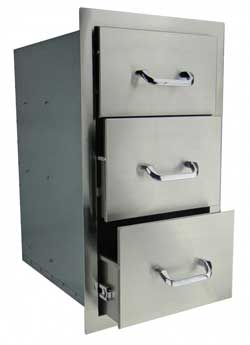 RCS Stainless Triple Drawer