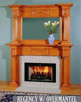 Regency with Overmantel Fireplace Surround